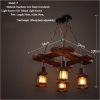 euroliteLED Novely Pendant Light Iron Glass Wood LOFT Retro Industrial Chandeliers(Patio Shape)