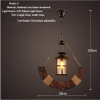 euroliteLED Novely Pendant Light Iron Glass Wood LOFT Retro Industrial Chandeliers(Crescent Shape)