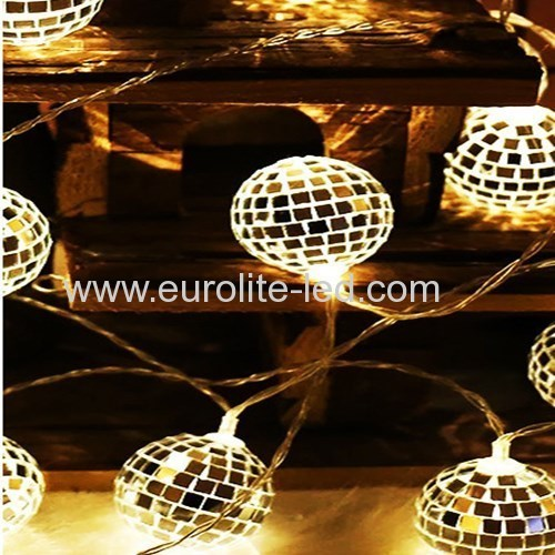 Led Mirror Ball String Romantic Fashion Party Holiday Stage Decoration Night Light