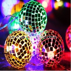 Led Solar PoweredMirror Ball String Romantic Fashion Party Holiday Stage Decoration Night Light