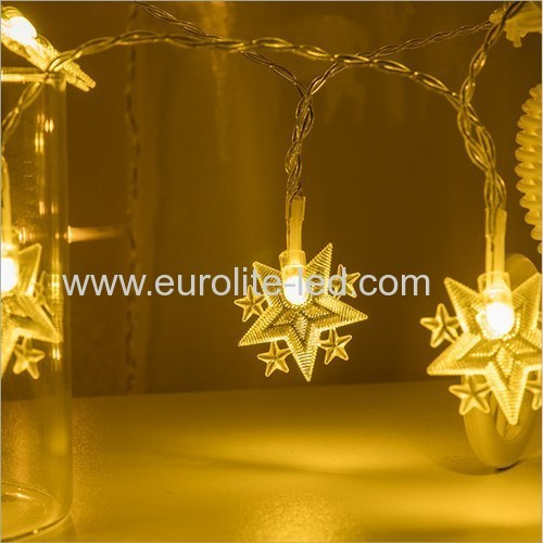 Led Solar Powered Star String Cute Holiday Room Garden Decoration Night Light