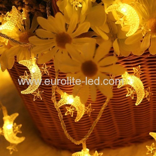 Led Solar Powered Moonr String Cute Holiday Room Garden Decoration Night Light