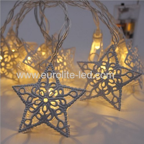 Led Hollow Star Iron String Battery Cute Holiday Room Garden Decoration Night Light