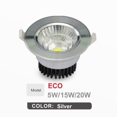 euroliteLED 5W 15W 20W COB LED Downlight 3000K-6500K IP20 Multi-color Optional