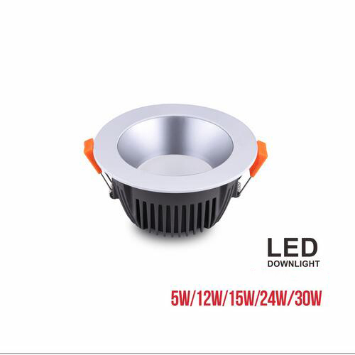 euroliteLED Grey 5W 12W 15W 24W 30W SMD LED Downlight 3000K-6500K IP20