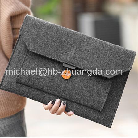 Fashion Wool Felt Laptop Sleeve Bag Notebook Handbag Case For Macbook Air Pro Retina 11 12 13 15 Lenovo Asus HP L