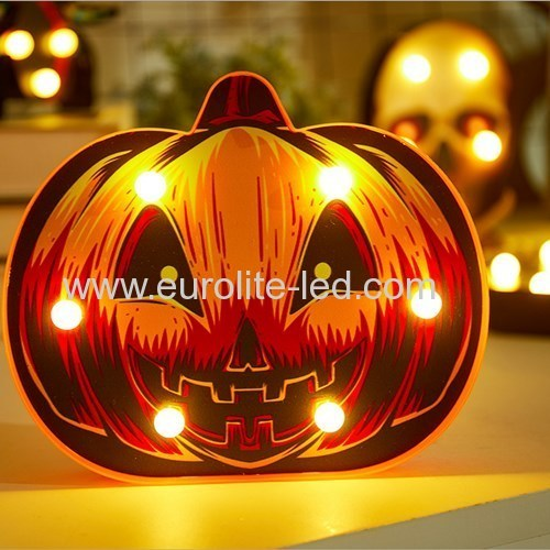 Led 3D Pumpkin Spider Skull Battery Halloween Party Bar Decoration Night Light