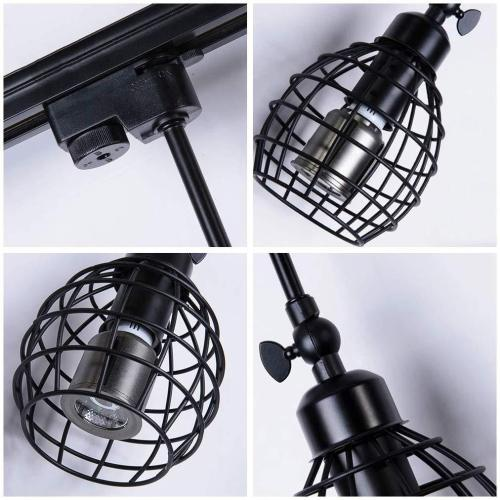 euroliteLED Adjustable LED Retro Track Spotlight Long Pole Spotlight (Single Heads)