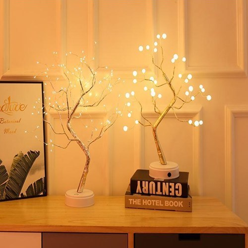 Led Pearl Tree Battery USB Touch Switch Party Holiday Wedding Decoration Night Light