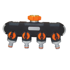 4-way plastic hose splitter for garden