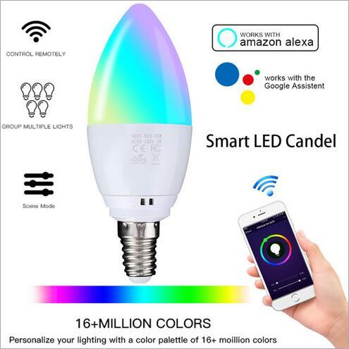 euroliteLED 5W Smart LED Light Multicolor RGBW Dimmable LED Bulb