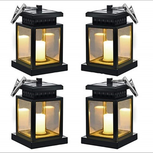 Led Hanging Solar Lights sulkily Waterproof Handing Solar Candle Lantern Hanging Decoration Garden Night Light