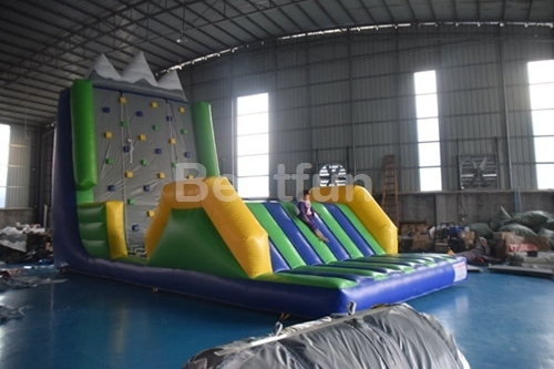 Inflatable rock climbing bouncer games