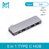 MC 5 in 1 Type C to USB 3.0 Hub Adapter Charging Data Sync Card Reader Multi-Port Combo Converter For Macbook Pro
