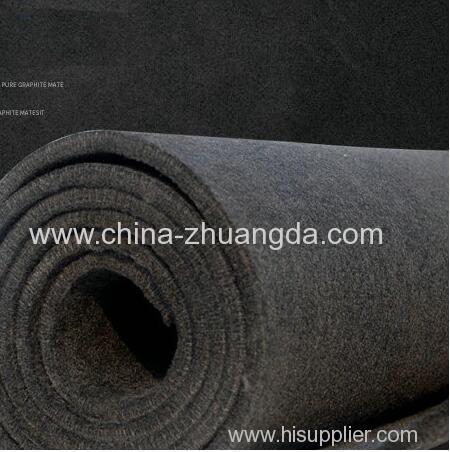 Soft Carbon Graphite Felt PAN-based Good Electrical Thin Sheet High Pure Carbon Graphite Industrial Grade Flexible Ele
