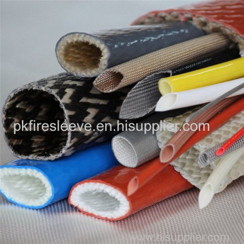 High Temperature resistant Silicone rubber fiberglass fire resistant sleeve