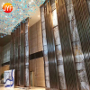 hanging rose gold hotel decor room divider made of decorative metal sheets functions