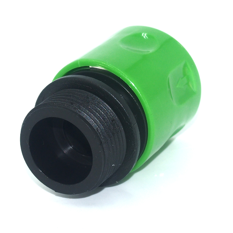 "Plastic 3/4"" male thread snap-in quick connector"