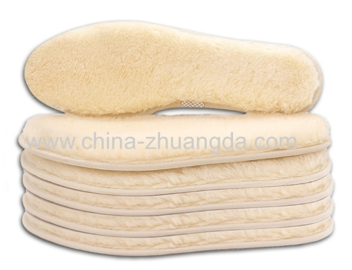 cheap price spot supply breathable sheep wool felt material warm insoles