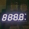 Ultra thin 4 Digit 12mm common cathode white SMD LED Display for mini oven timer