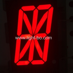 High brightness 2.3inch common cathode red 16 segment alphanumeric led display