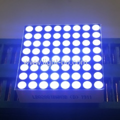 Good consistency ultra white 8*8 dot matrix led display row anode for moving signs