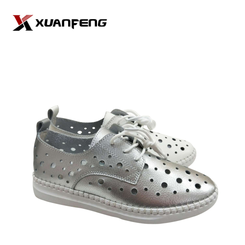 Fashion Women's Summer Leather Flat Casual Shoes