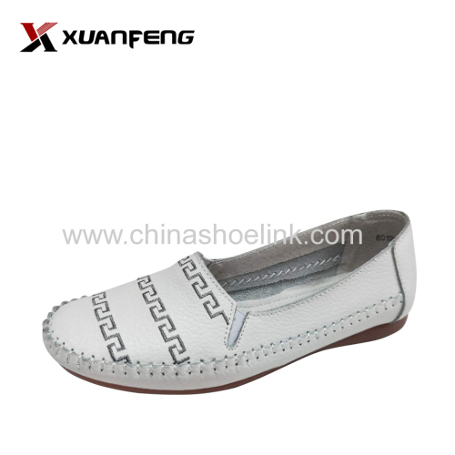 Fashion Lady's Summer Leather Loafers Casual Shoes