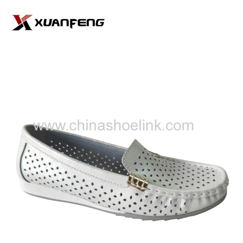 Fashion Ladies Summer Comfortable Genuine Leather Loafers