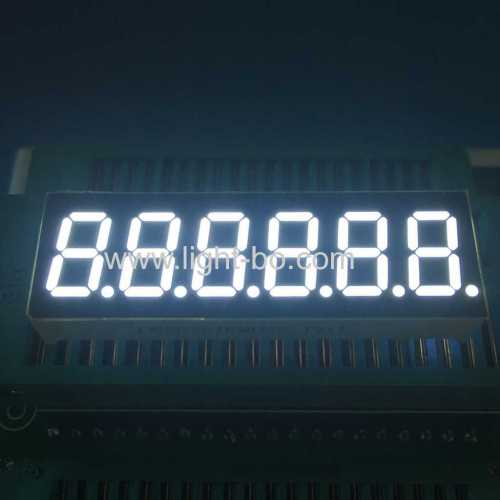 "Ultra bright white 0.36"" 6 digit 7 segment led display for instrument panel"