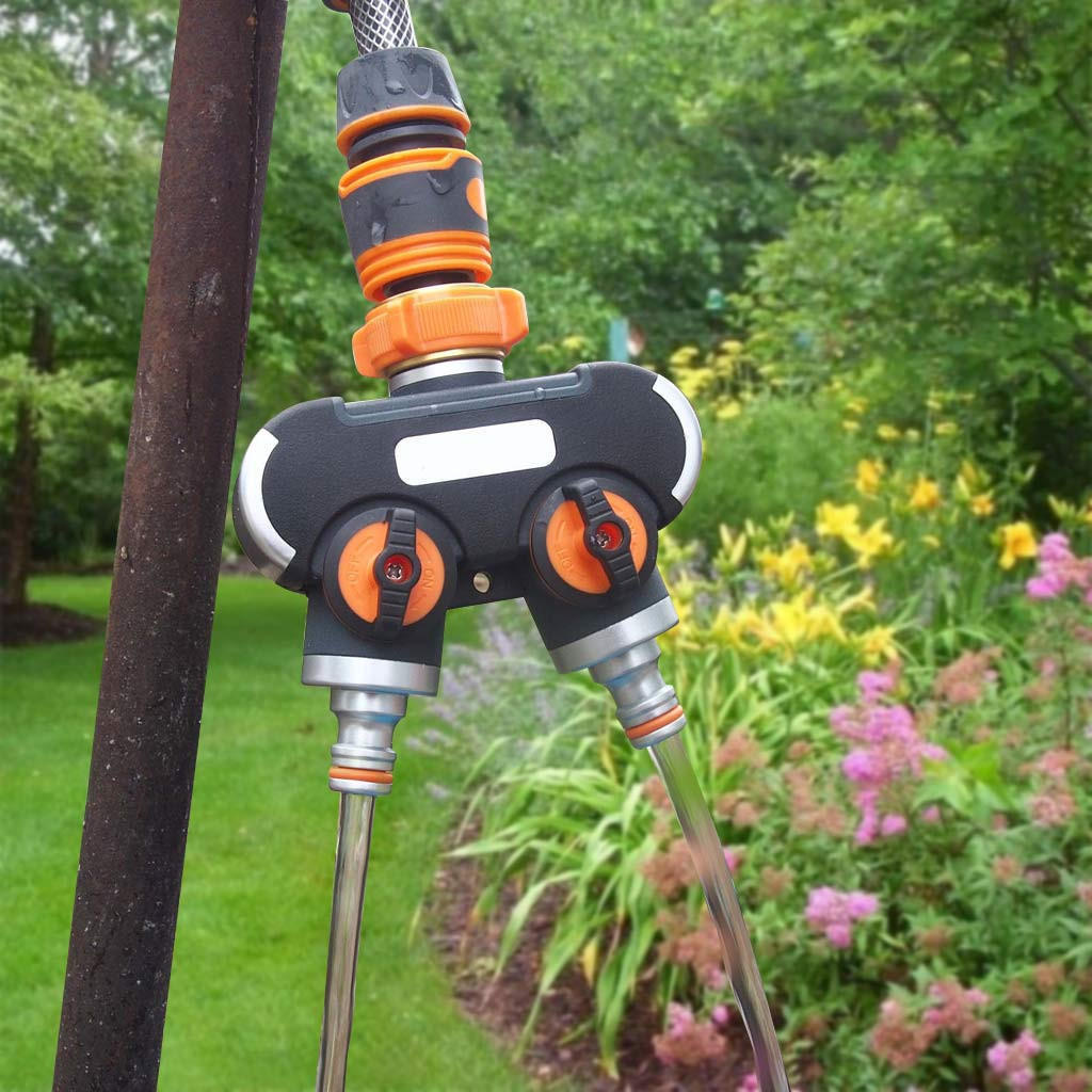 garden water tap splitter for backyard