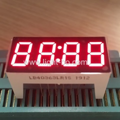 "Super Red 0.36"" 4 Digits 7 Segment LED Clock Display for home appliances with height 16.5mm"