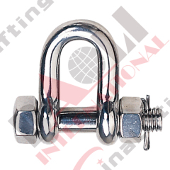 S.S. ROUND PIN SAFETY CHAIN SHACKLE U.S TYPE AISI :304 or 316