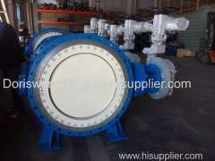 Motorized Flange Type WCB Metal Seated Butterfly Valve