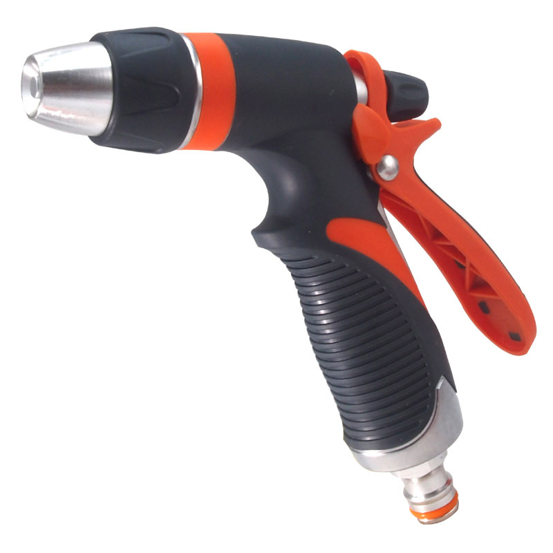 Metal 2-way garden hose nozzle