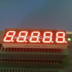 "Super Red 0.39"" 5 Digit 7 Segment LED Display common cathode for temperature indicator"