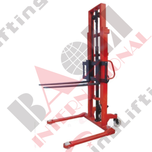 EXTRA WIDE HAND HYDRAULIC STACKER