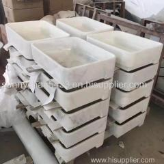 China White Marble Sink Guangxi White Marble Basin