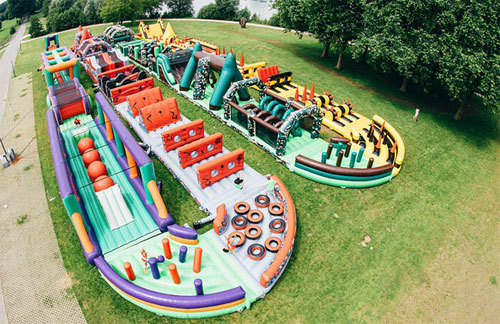 The world largest inflatable obstacle