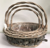 gray wicker baskets with handle