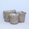 cheap wholesale wicker gift baskets with handle