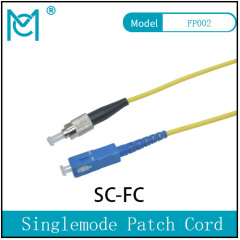 Fiber Optic Single Mode Patch Cord Duplex SC/FC