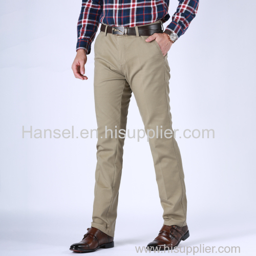 Mens Non-iron comfortable casual pants/Wash and wear mens trousers