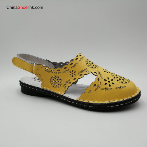 Wholesale Summer Women Girls Leather Flat Sandals