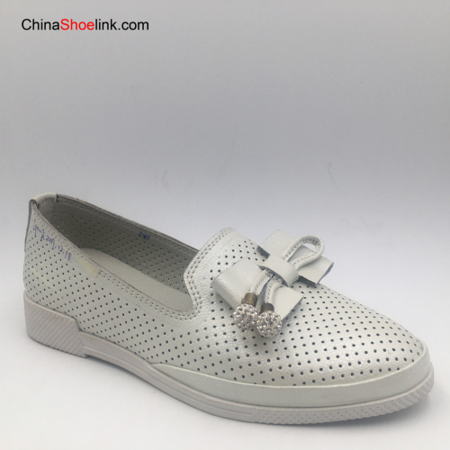 High Quality Handmade Summer Women's Leather Flats Shoes