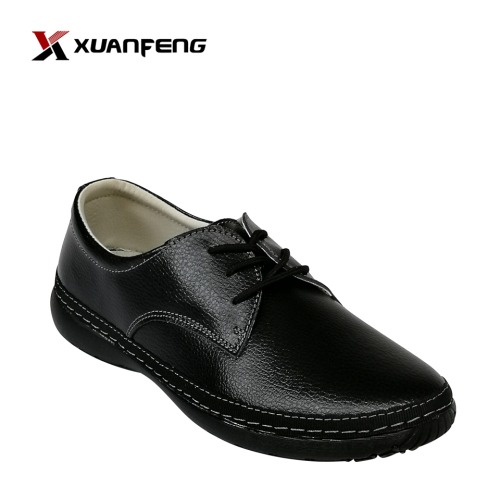 High Quality Women Comfort Shoes Black Genuine Leather Women Flat Shoes