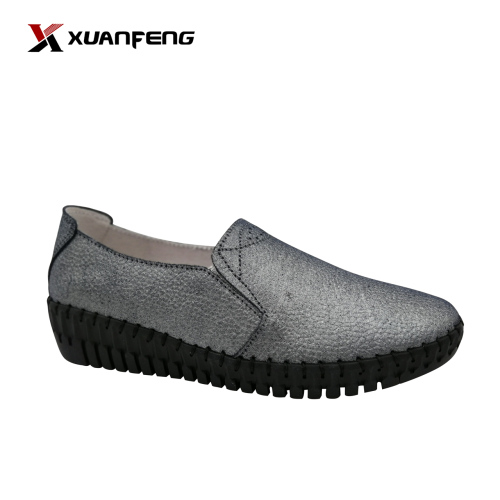 Custom Logo Women Female Ladies Genuine Leather Shoes Loafer Womens Casual Shoes Comfortable