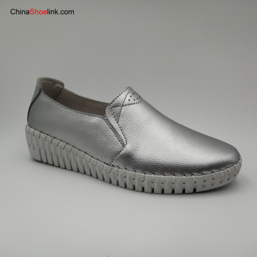 Women's Loafers Slip On Genuine Leather Woman Female Leisure Shoe