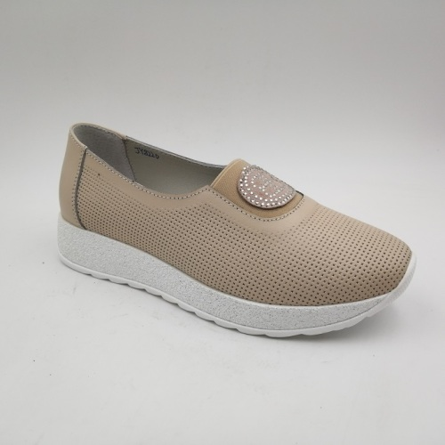 Women's Loafers Slip On Genuine Leather Woman Leisure Shoe
