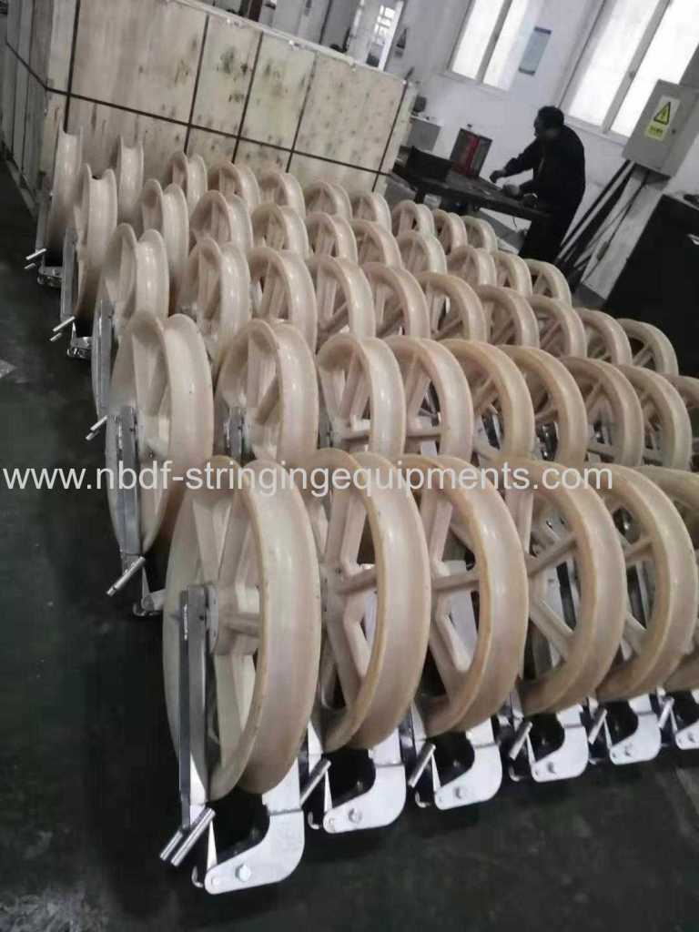 Helicopter stringing rollers exported to Europe